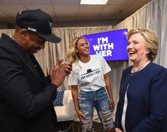 Watch Beyoncé Pour Her Heart Out For Hillary Clinton At Last Night's Concert Alongside Jay Z!