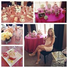 Ashleigh hunt's bridal shower... How bout this Jill with your green replacing the pink and using the damask pattern too