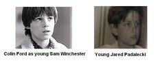 Colin Ford and Young Jared Padalecki. I can't even. This show. PERFECTION