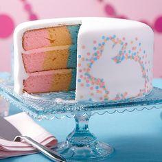 Pointillism Easter Bunny Cake
