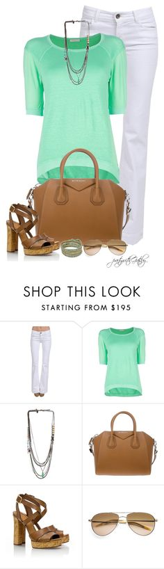 """Untitled #579"" by partywithgatsby ❤ liked on Polyvore featuring J Brand, Roberto Collina, Iosselliani, Givenchy, Tory Burch, Oliver Peoples and NAKAMOL"