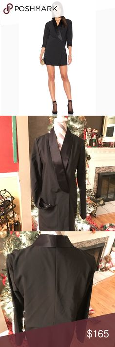 Tibi Silk Tuxedo Dress Super hot!  Sold out !! Be NYE ready with this one 😱 Tibi Dresses
