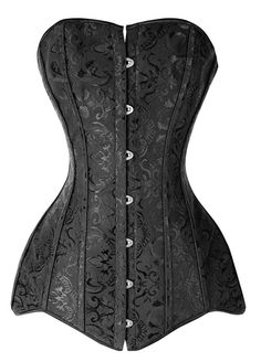 Long Line Corset Black Overbust Long Torso Waist Trainer from waistrainer