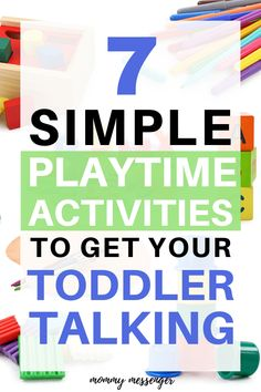 Play is the best way to encourage your child's speech and language skills! Find out some fun activities that will get your toddler talking in no time. All of these ideas come along with tips from a pediatric Speech Therapist!