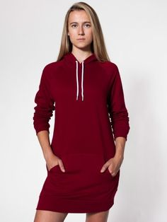 5398 California Fleece Pullover Raglan Hoody Dress Hoodie Dress, Fitted  Dresses, American Apparel Dress b1e155d1d401