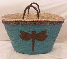 Capazo pintado a mano. Se puede personalizar diseño y colores. http://es.dawanda.com/shop/dobler