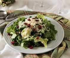 Green salad with Parmesan and cranberries, perfect for Christmas season. (in Greek) Clean Eating, Healthy Eating, Rabbit Food, Healthy Salad Recipes, Healthy Foods, Christmas Cooking, Salad Bar, I Foods, Food Processor Recipes