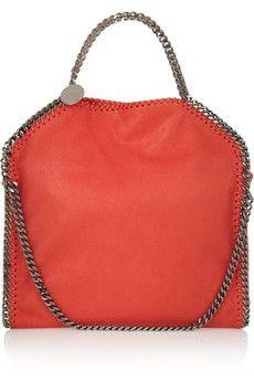 Stella McCartney The Falabella faux brushed-leather shoulder bag | NET-A-PORTER