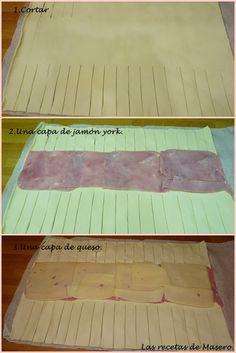 Las recetas de Masero.: Trenza de hojaldre caramelizada de jamón york y qu...