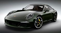 """New #Porsche #911 Club Coupe Special Edition with 424hp Limited to 12 Units - [All 13 examples of the 911 Club Coupe are painted in a classic """"Brewster Green"""" hue and feature the standard Sport Design Package that adds a new front bumper and a 'ducktail' rear spoiler, while riding on 20-inch SportTechno alloy wheels.]"""
