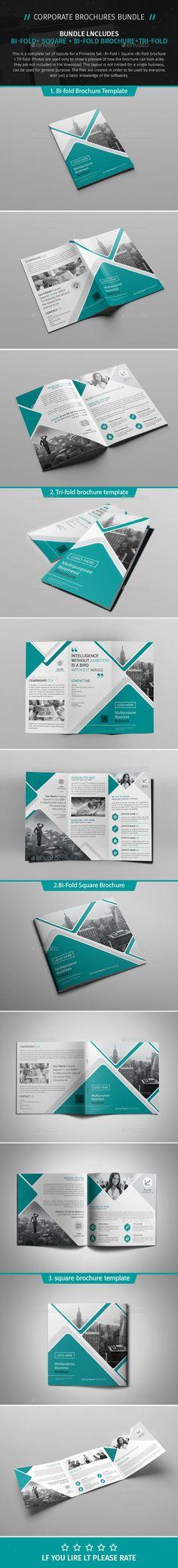 Brochure Bundle 06  — PSD Template #seo #business • Download ➝ https://graphicriver.net/item/brochure-bundle-06/18333505?ref=pxcr