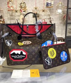 If you are looking for an iconic bag with new refinements, this Neverfull MM in monogram canvas with classic hotel stickers atop is a much-have.  See more LV collections at http://www.luxtime.su/louis-vuitton-handbags