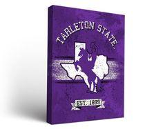 Tarleton State Texans Classic Canvas Wall Art Rectangle