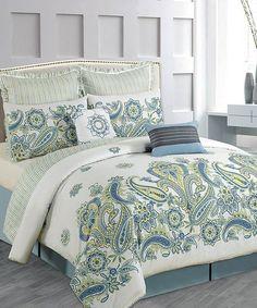 Blue Paisley Comforter Set