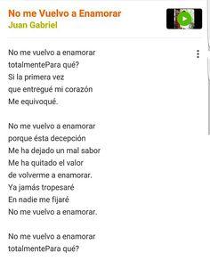 No Me Vuelvo A Enamorar- Juan Gabriel