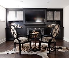 Maximize your storage space with an entertainment unit that spans the width of your room from floor to ceiling.