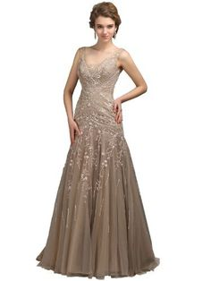 Landybridal Women's Beaded Embroidery V-neck Floor Length Evening Dress Bmmc0009, http://www.amazon.com/dp/B00DGNZYTK/ref=cm_sw_r_pi_awdm_ELFiub06C97Z1