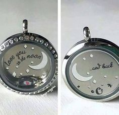 Origami Owl Back Plate Front and Back