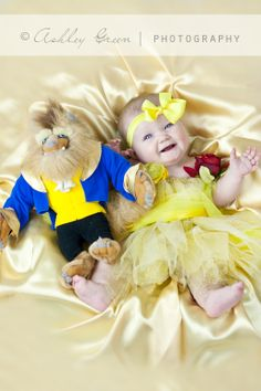 Beauty and the Beast baby photo session - the happiest and cutest baby ever :D