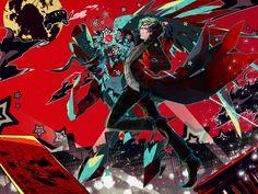 Persona Five, Persona 5 Anime, Persona 5 Joker, Shinshi Doumei Cross, Shin Megami Tensei Persona, Akira Kurusu, Yandere Anime, Joker Art, Video Game Art