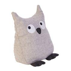 Cute fabric owl door stop!                                                                                                                                                                                 More