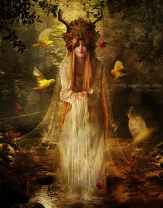 """Druids Trees:  """"Lady of the #Forest,"""" by Le-Regard-des-Elfes, at deviantART."""
