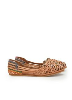 Sandali intrecciati bassi