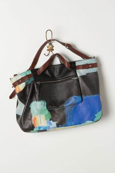 #Watercolor Weekender Bag by Claire Desjardins: Taken from her painting Urban Blue. #Bag #Claire_Desjardins    Please visit my blog for more cool stuff!    Also Please Repin Thanks!