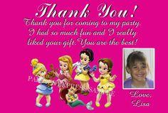 Disney princesses Thank you cards / notes birthday supplies