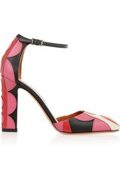 Valentino|Carmen appliquéd leather pumps|NET-A-PORTER.COM