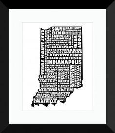 Indiana Print - MapMyState.com