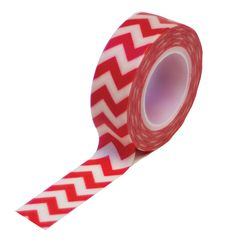 Queen and Company - Trendy Tape - Chevron Red at Scrapbook.com