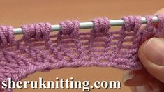 Increase Knit 1 Yarn Over Knit 1 Tutorial 8 Part 9 of 14 Three-Stitches Increase Into Same Stitch - YouTube Lace Knitting, Knitting Stitches, Knit Or Crochet, Knitting Paterns, Knitting Basics, Knitting For Beginners, Knitting Needles, Purl Stitch, Crochet Videos