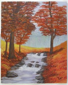 Colorado Vintage Painting  Orange Fall Foliage Waterfall Landscape Naive Ryan  | eBay Orange Painting, Naive, Colorado, Waterfall, Landscape, Abstract, Artwork, Vintage, Ebay