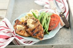 Grilled Maple Balsamic Glazed Pork Chops