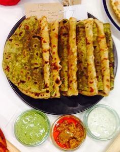 ALOO & PALAK PARATHAS (Potato & Spinach Indian Flat Bread)