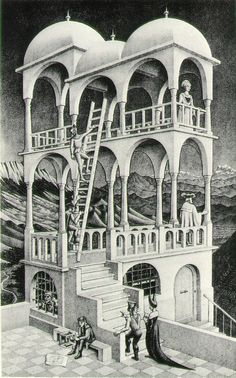 """M. C. Escher """"Order is repetition of units. Chaos is multiplicity without rhythm."""""""