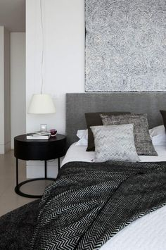 grey and white | masculine bedroom