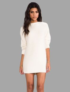 Perfect winter white sweater dress