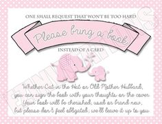 Pink and Grey Elephant Baby Shower Invitation and by EZinvitations