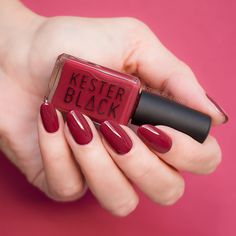 Dark red nail polish - Kester Black Pinot Noir for wine o'clock