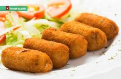 Cheese And Vegetable Croquettes Croquettes Recipe, Potato Croquettes, Hanukkah Food, Oil For Deep Frying, Brunch, Cheese Potatoes, Kosher Recipes, Snack, Gastronomia