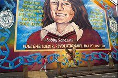 Bobby Sands, (1954 – 1981), Memorial Graffiti, Belfast, Northern Ireland.