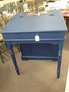 $60 - This slant front desk opens for storage. The back on the desk has shelving (bookcase), for more space. The desk has been well painted and it measures 28 inches across the front, 28 inches deep and it stands 32 inches to the tallest point.  It can be seen in booth G 21 at Main Street Antique Mall 7260 East Main St ( E of Power Rd ) Mesa 85207  480 9241122open 7 days 10 till 530 Cash or charge accepted