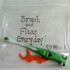 "Cute little ""Dental Health"" month happy from the teacher! ((love!))"