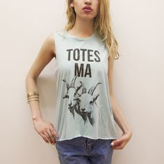 Totes Ma Goats Mint Tank $32.00 I would wear that