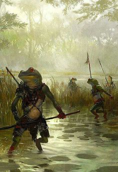 View an image titled 'Frogmen Art' in our Guild Wars: Eye of the North art gallery featuring official character designs, concept art, and promo pictures. High Fantasy, Fantasy Races, Fantasy Rpg, Medieval Fantasy, Fantasy World, Guild Wars, Fantasy Artwork, Fantasy Concept Art, Monsters Rpg