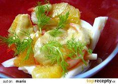 Fenyklový salát s pomerančem recept - TopRecepty.cz Okra, Cabbage, Chicken, Meat, Vegetables, Food, Catalog, Gumbo, Essen
