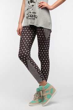 BDG Mixed Pattern High-Rise Legging  #UrbanOutfitters