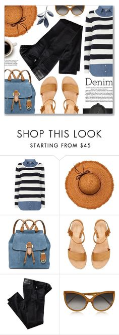 """Stripes"" by jiabao-krohn ❤ liked on Polyvore featuring Dorothy Perkins, La Fiorentina, MICHAEL Michael Kors, AG Adriano Goldschmied, Linda Farrow, LEFF Amsterdam and BoldStripes"